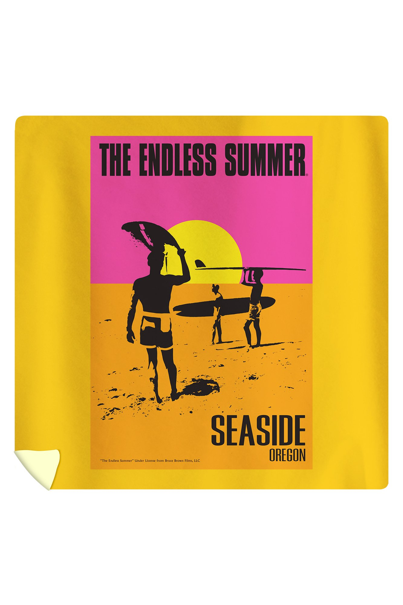 Seaside, Oregon - The Endless Summer - Original Movie Poster (88x88 Queen Microfiber Duvet Cover)