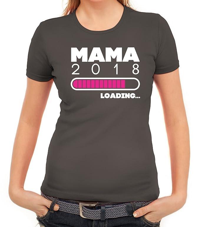 Geschenkidee Muttertag Geburt Damen T-Shirt Mama 2018 Loading.: Amazon.de:  Bekleidung