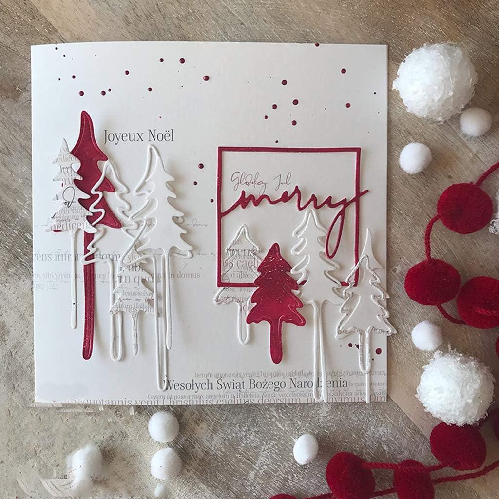 OOTSR 5 Pieces Christmas Metal Cutting Dies Set Christmas Tree Deer Die Cut Die Cuts Stencils for DIY Scrapbooking Card Making Embossing Stencil Template