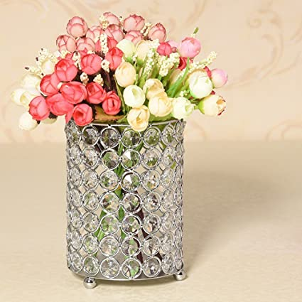 Amazon Vincigant Silver Crystal Candlesticksdecorative Vases