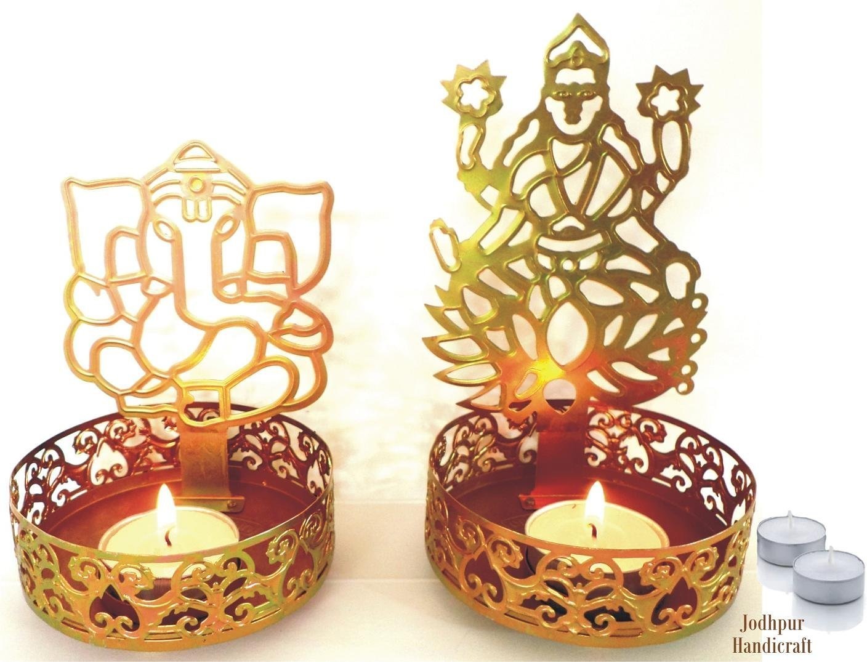 Amazon.com: Jodhpur Handicraft Shadow Diya Tealight Candle Holder of ...