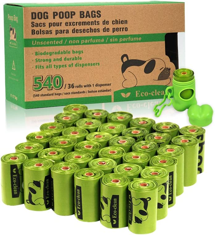 Amazon.com : ECO-CLEAN Poop Bags Biodegradable, 36 Rolls/540 ...