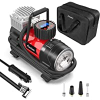 $34 » Tire Inflator Pump, Portable Air Compressor 12V 150 PSI with Digital Display Gauge, LED…