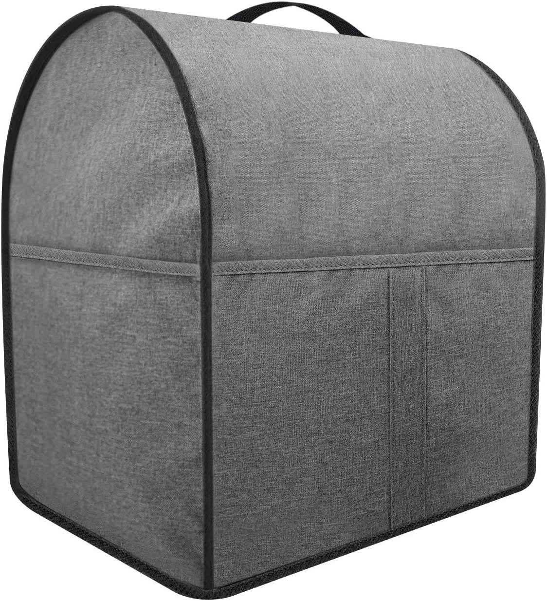 Dust Cover For Mixer, Cloth Cover with 3 Pockets for Extra Attachments ,Easy Cleaning (Grey, Fits for All 4.5-5 Quart)