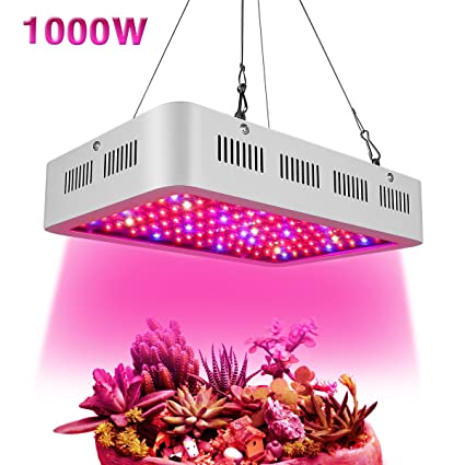 Led Grow Light 1000w, Hydroponic Grow Light Full Spectrum Double Chips  Growing Lamps with UV & IR with Protective Sunglasses for Indoor Plants