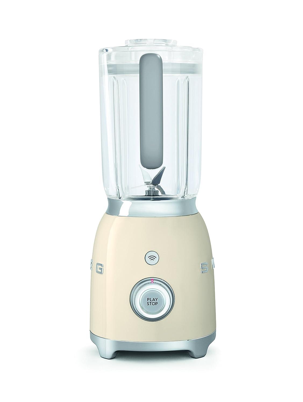 Smeg BLF01CREU - Batidora de vaso 16,3 x 19,7 x 39,7 cm, 1,5 litros (Vidrio, Acero inoxidable, Corriente alterna): Amazon.es: Hogar