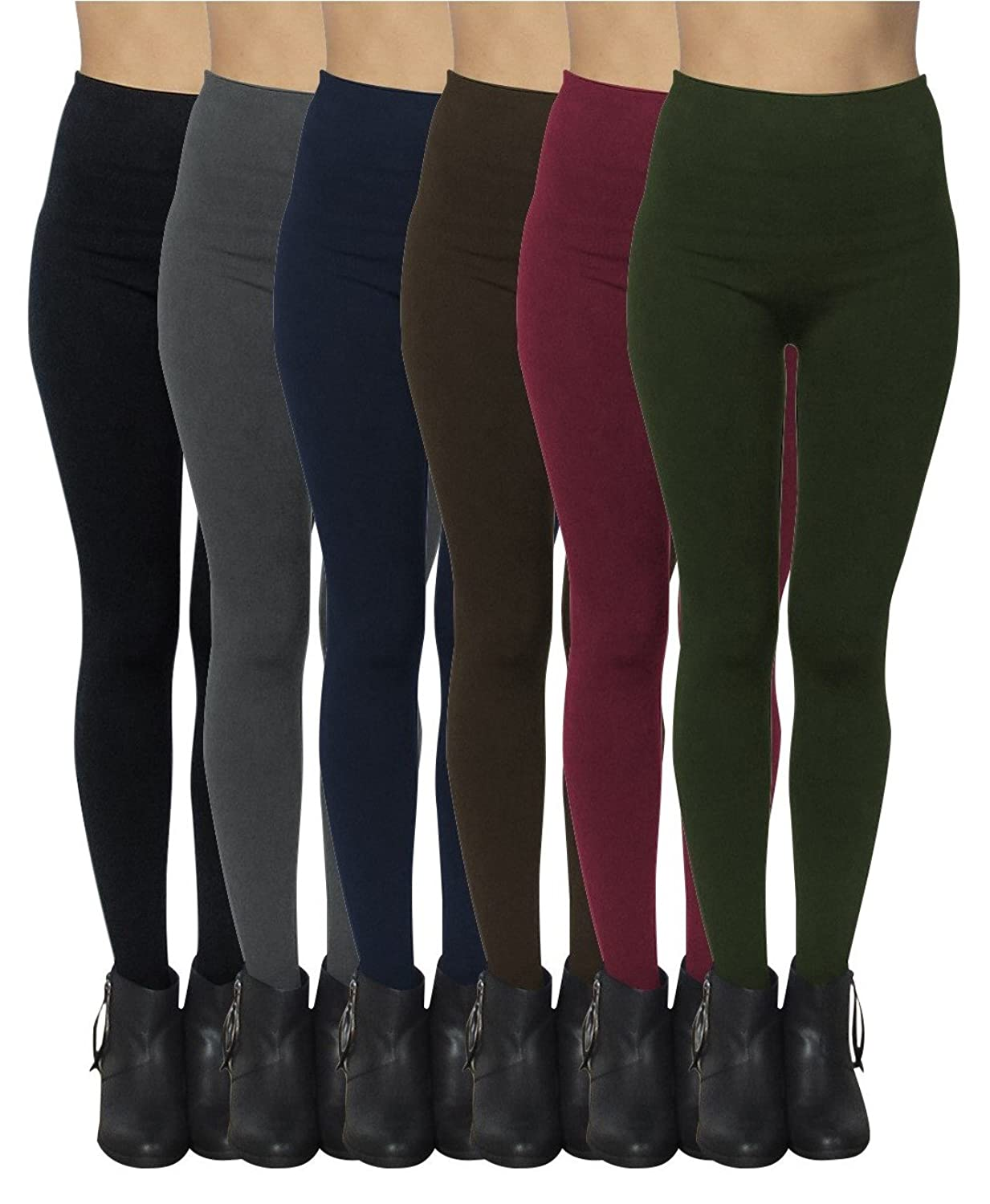 f6cfdedaca16b8 LEGGINGS FOR WOMEN: Ultra soft and comfortable seamless fleece lined  leggings. ONE SIZE: One size fits most, up to size XL or ...