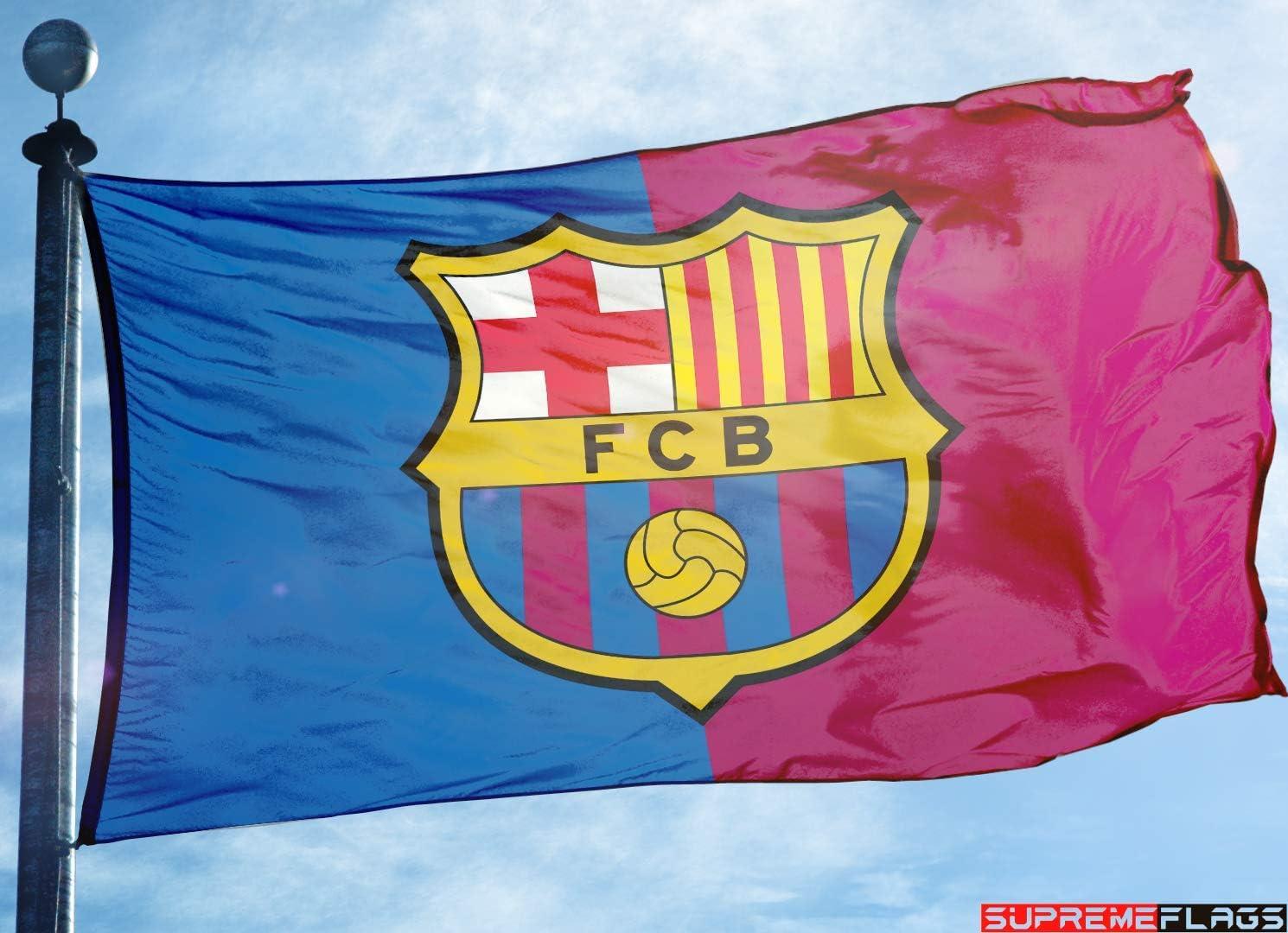 Bandera de Barcelona de 3 x 5 pies de España de fútbol Bicolor Bandera: Amazon.es: Deportes y aire libre
