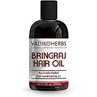 Bringraj (Bhringraj) Hair Oil (8 oz) by Vadik Herbs | Herbal hair growth oil and hair conditioning oil | Great for hair…