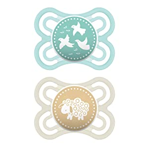 MAM Perfect Pacifiers, Baby Pacifiers 0-6 Months (2 pack), Best Pacifier for Breastfed Babies, Orthodontic Pacifier, Unisex Baby Pacifier