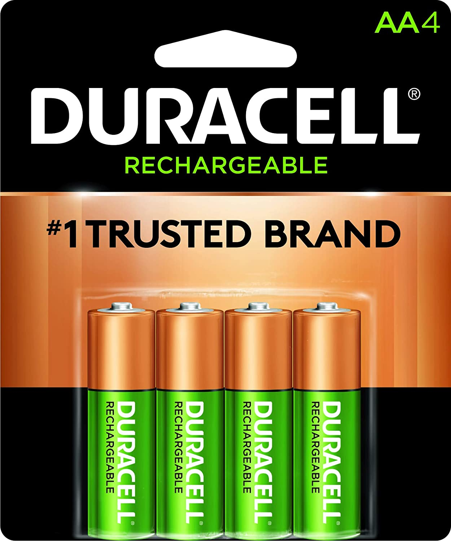 Amazon.com: Pilas recargables AA Duracell, AA-Rechx4, AA, 4 ...