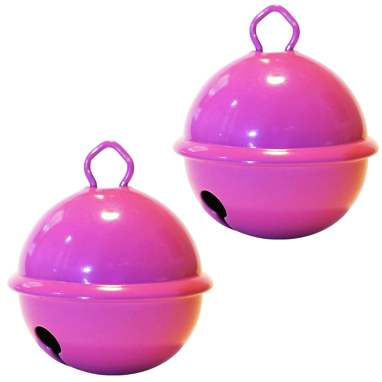 Cascabel gigante rosa (X 2 campanas de 35 mm) latón macizo: Beau sonido + NE herrumbre pas - musikid cascabeles gigantes Gros medios pequeños + de 16 ...