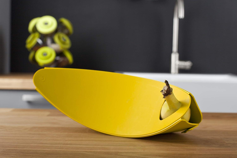 Vacu Vin 28619606 Porta plátanos, Color Amarillo. de Tomorrows Kitchen, 25x28x0.4 cm: Amazon.es: Hogar