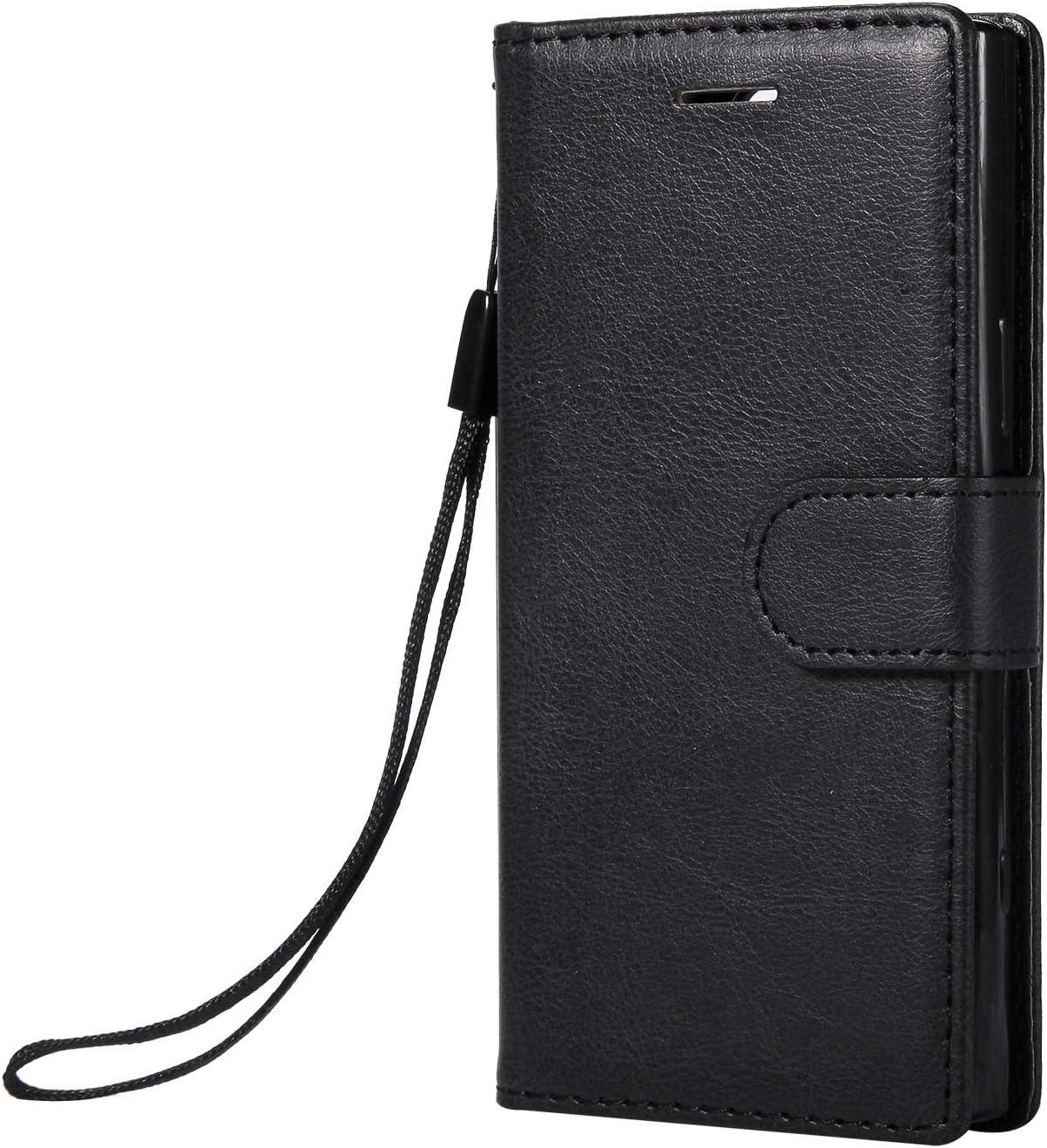 NEXCURIO Sony Xperia XZ1コンパクト / XZ1 Compact/docomo SO-02K ケース 手帳型 PU レザーケース 耐衝撃 カード収納 スタンド機能 マグネット式 エクスぺリアXZ1 Compact ケース 携帯カバー おしゃれ - NEKTU13554 黒