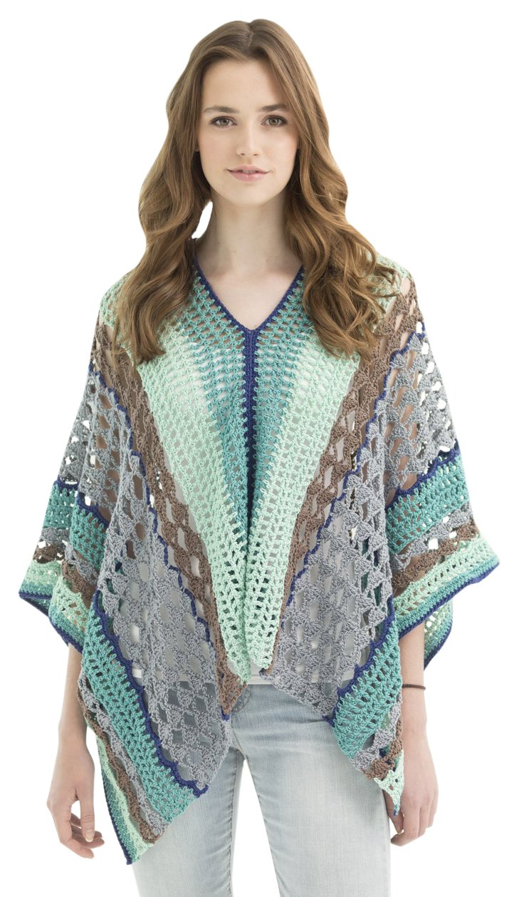 Lion Brand Yarn Lion 600-568 Clement Canyon Poncho Crochet Kit