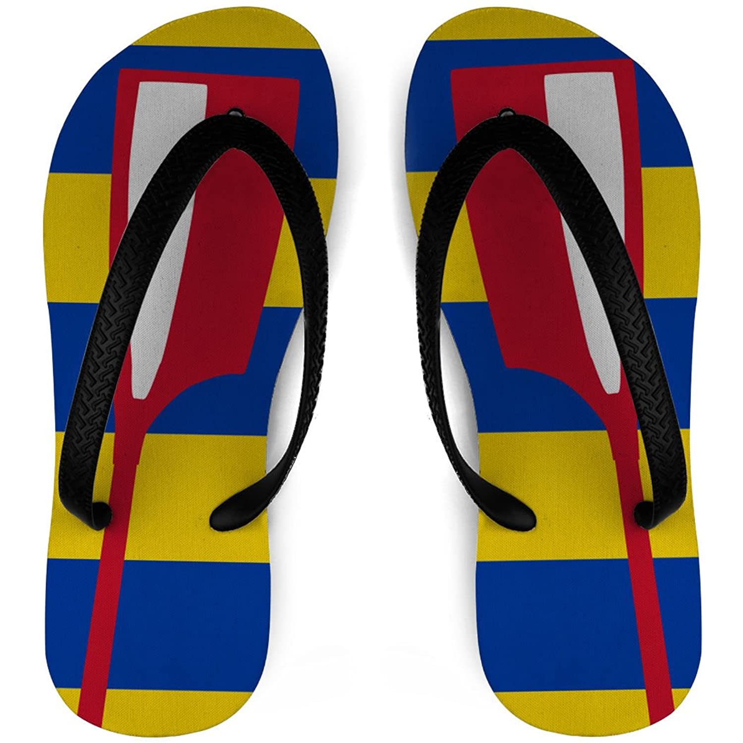 Crew Flip Flops Oars With Stripes