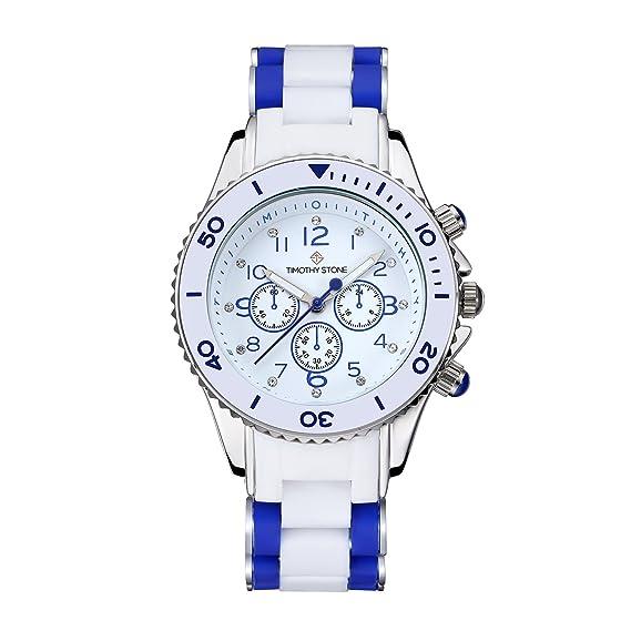 Timothy Stone Collection Amber - Reloj Mujer de cuartzo, Color Azul/Blanco