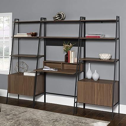 new concept bc0ec c091e Amazon.com: 3-Piece Home Office Desk Set - Mocha: Kitchen ...
