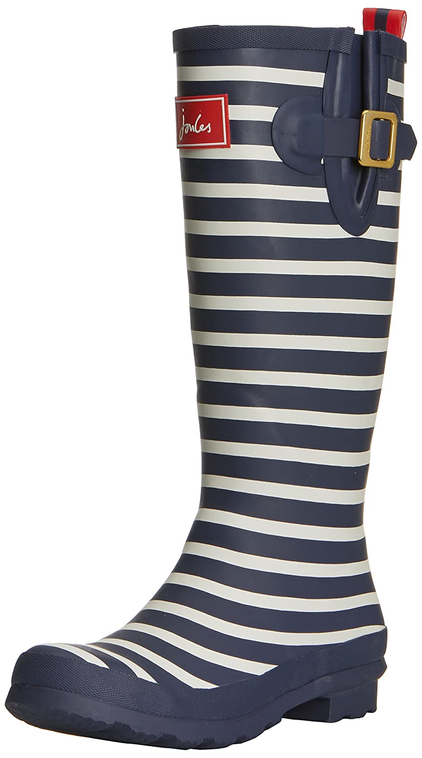 Joules Women's B00KCME778 Welly Print Rain Boot B00KCME778 Women's 8 M US|Navy Stripe b11ac1