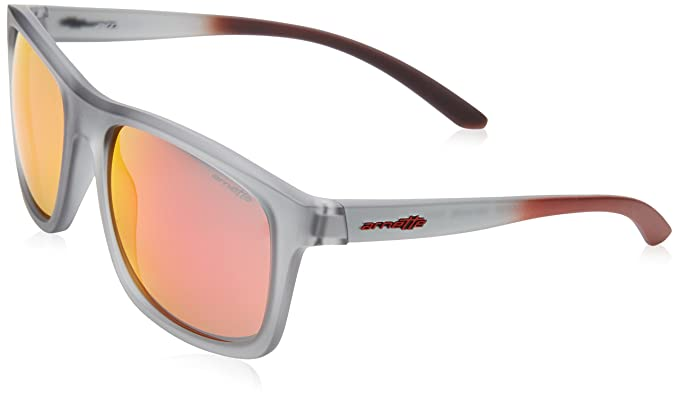 Arnette Hombre 0AN4233 24236Q 57 Gafas de sol, Gris (Matte Transparent Grey/Redmultilayer
