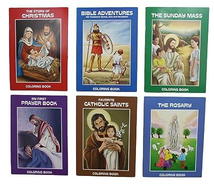 Amazon.com: Bundle: 6 Catholic Coloring Books- Bible Adventures, The ...