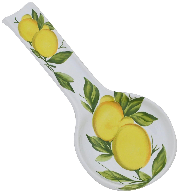 Abbiamo Tutto Lemon Spoonrest, 9.5-Inch by 5-Inch