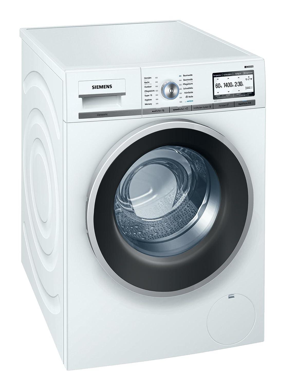 Siemens iQ800 WM4YH741 Waschmaschine / 8,00 kg / A+++ / 196 kWh / 1.400 U/min / WLAN-fähig mit Home Connect / Automatische Fleckenautomatik / Nachlegefunktion /