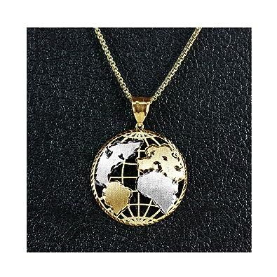 Amazon lovebling 10k yellow gold world map globe charm pendant lovebling 10k yellow gold world map globe charm pendant 190quot gumiabroncs Gallery
