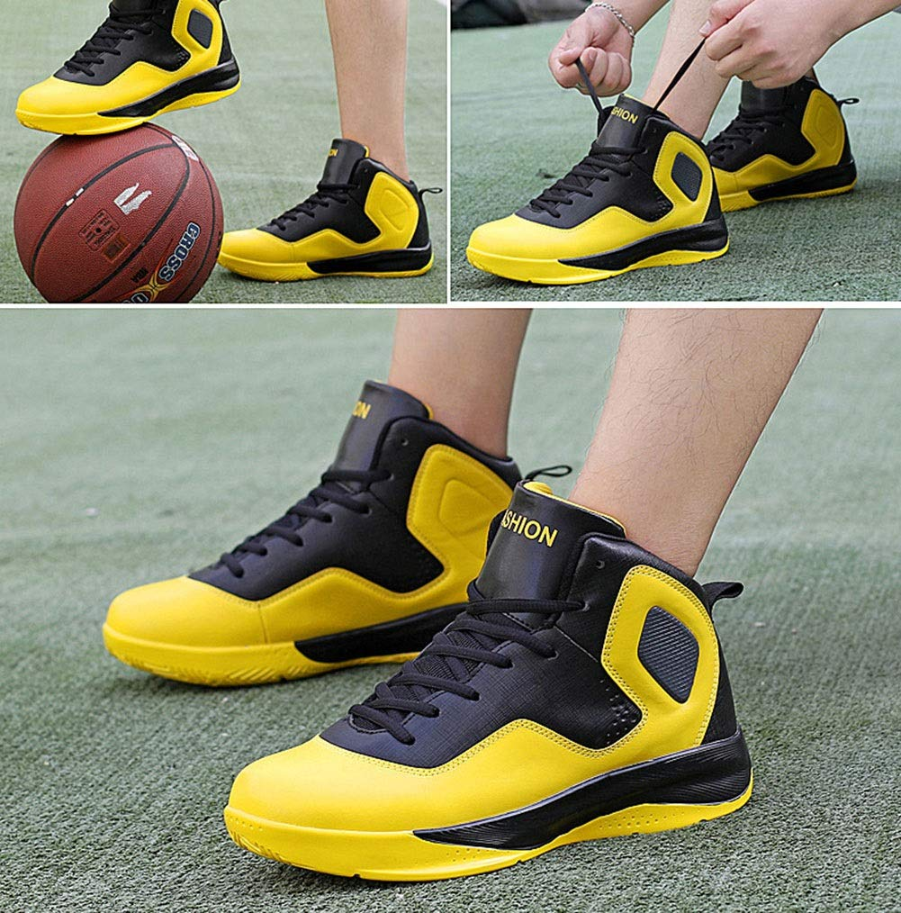 YAN Zapatillas para Hombre Fall & de Winter Zapatillas de & Baloncesto Zapatos de Cordones Cross & Fitness Training Zapatos para Caminar Casual/Diario (Color : Amarillo, tamaño : 47) 131f25