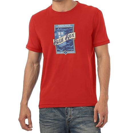 Texlab Blue Box White Ale, T Shirt Uomo, Rot, L: Amazon.it