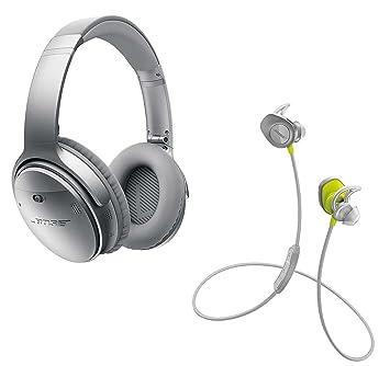 Bose QuietComfort 35 y in-Ear SoundSport (Amarillo) inalámbrico Bluetooth Auriculares cancelación de Ruido de Diadema (Plata): Amazon.es: Electrónica