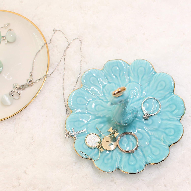 ZeenArt Alpaca Ceramic Jewelry Tray Llama Ring Holder Trinket Dish Necklace Earrings Rings Jewelry Organizer Display Trinket Trays Home Room Decor Vicuna