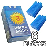 New Freezer Blocks - Suitable For Cooler Boxes & Bags - Cools & Keeps Food Fresh - In Packs of 3/6