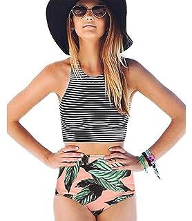 CUPSHE Womens High Waisted Bikini Set Tankini Swimwear CYY740
