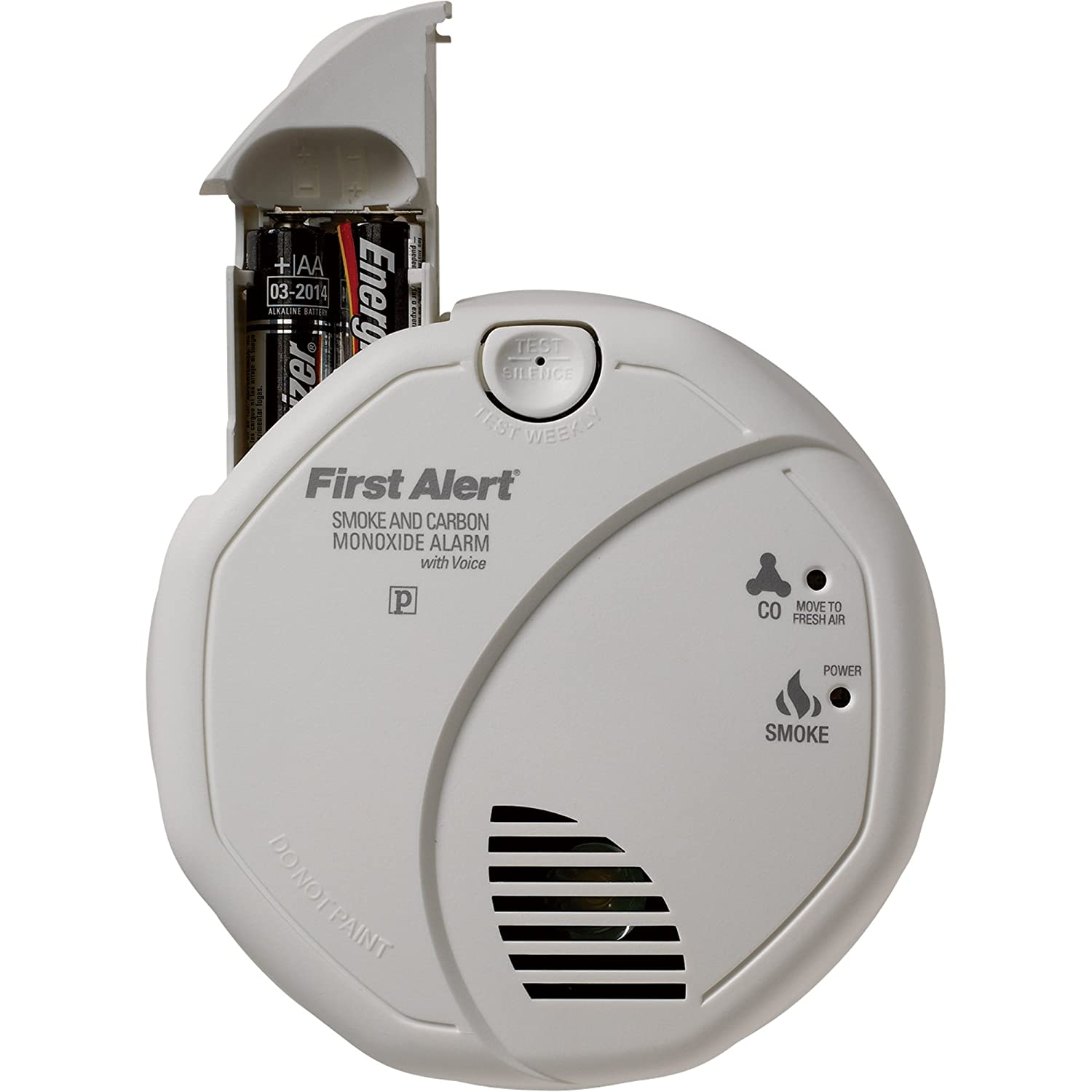 First Alert Talking 2-in-1 Smoke & Carbon Monoxide Alarm-3-Pk, W/Voice and Location, Model#SC07CN - - Amazon.com