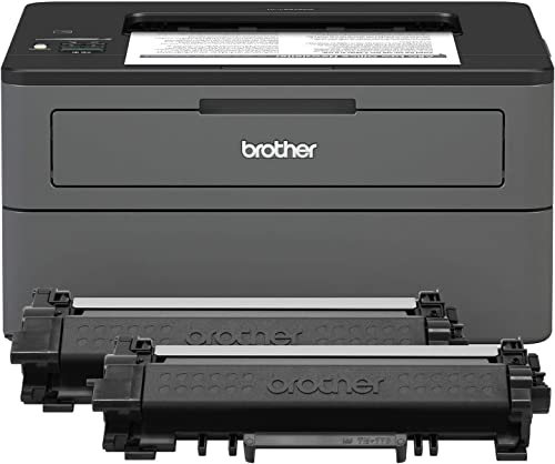Brother Compact Monochrome Laser Printer, HL-L2370DWXL Extended Print, Up to 2 Years of Printing Included, Wireless Printing, Amazon Dash Replenishment Ready