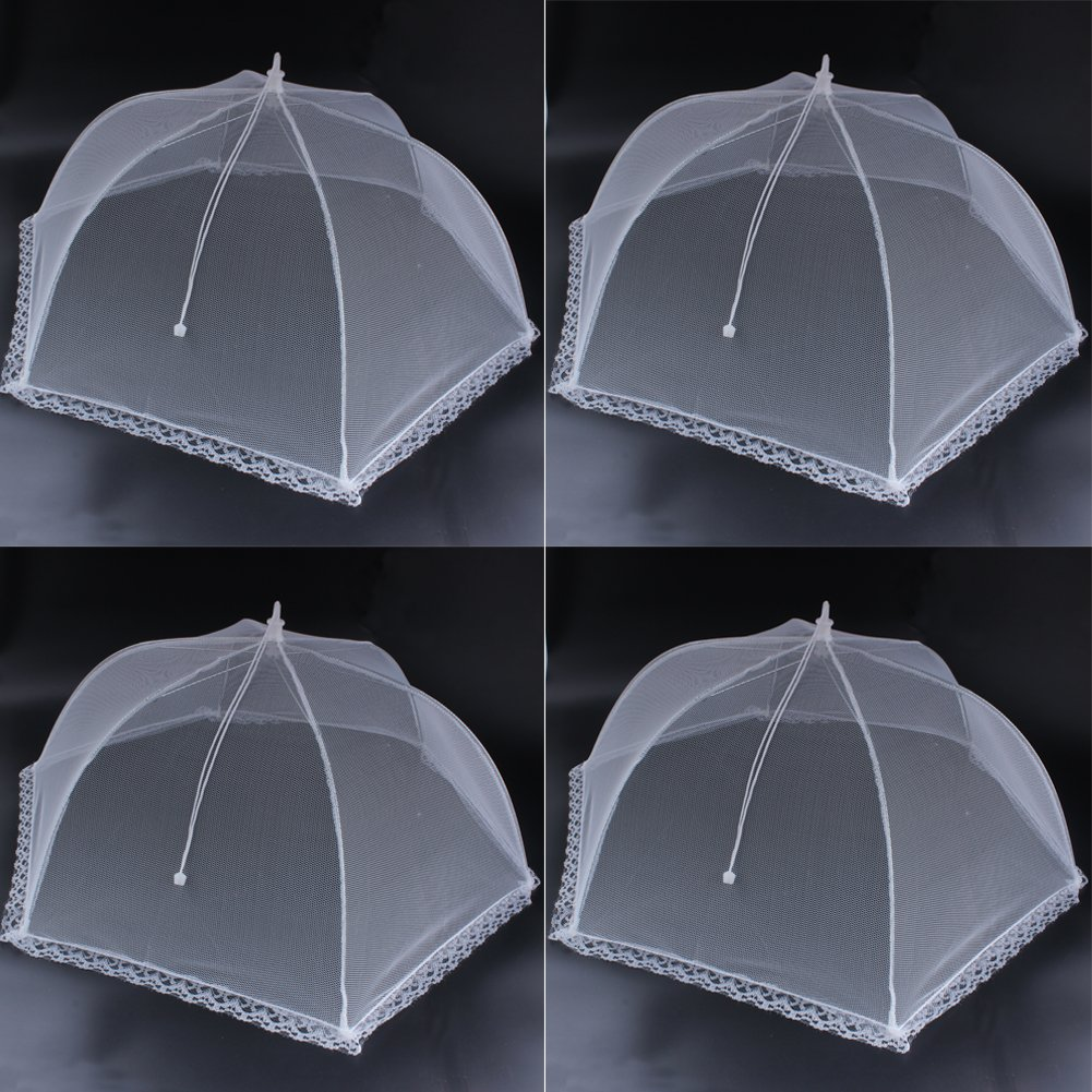Zicome Mesh Food Cover Tents, Pop-up and Collapsible, 4 Pack, 24'' x 12''