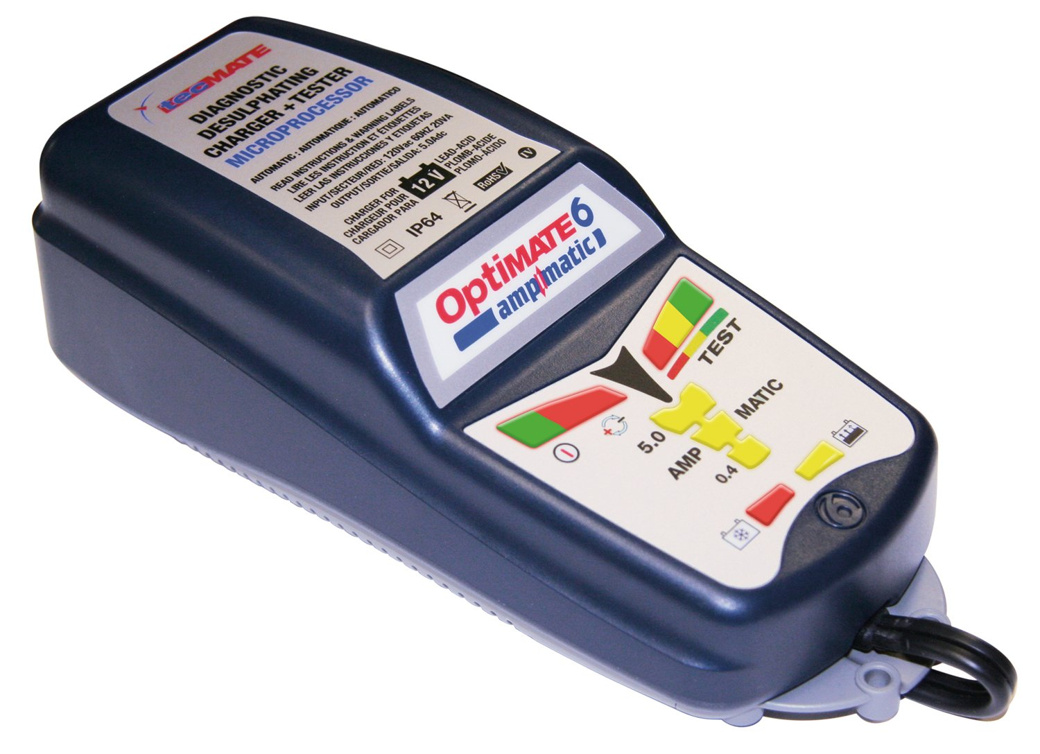 OptiMATE 6 Ampmatic, TM-181, 9-step 12V 5A Battery Saving charger-tester-maintainer by Tecmate