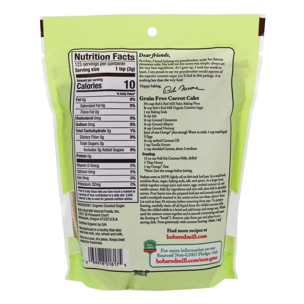 Bobs Red Mill, Coconut Sugar Organic, 13 Ounce by Bob's Red Mill (Image #2)