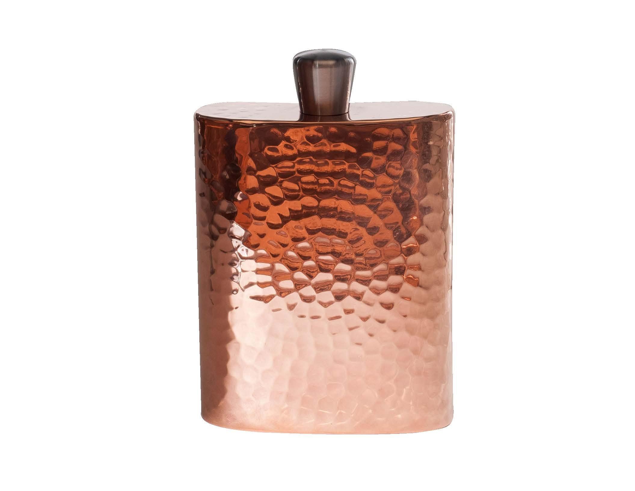 Sertodo Copper FLSK-ESP-4x5 Espadín Grand Daddy Flask with Funnel & Gift Box, Hand Hammered 100% Pure Copper, 12 oz