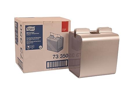 "Tork 73350 Image Xpressnap Napkin Dispenser, Aluminum, 8.23"" Height x 7.1"" Width"