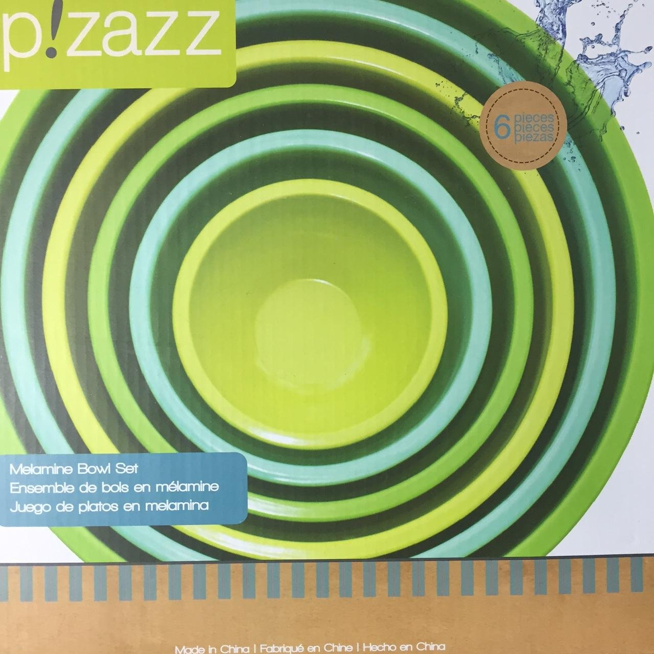 Amazon.com | New Pizazz 6-piece Melamine Bowl Set in Retro / Vintage Colors of Blue and Green: Pasta Bowls