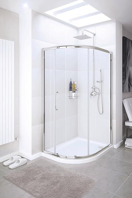 Lagos Classic Offset Quadrant - Mampara de ducha (900 x 760 mm ...
