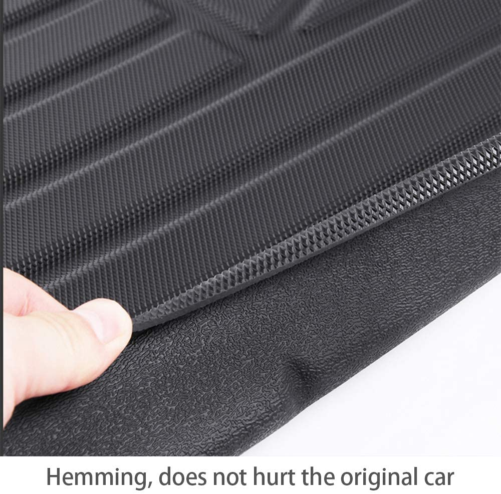 Cqlights MKC Cargo Liner for Lincoln MKC 2015-2019 Trunk Liner Tray Heavy Duty Rubber Rear Cargo Area Mat Waterproof Protector Floor Mat Black