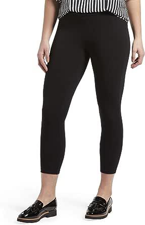 HUE womens Wide Waistband Blackout Cotton Capri Leggings, Assorted Hosiery