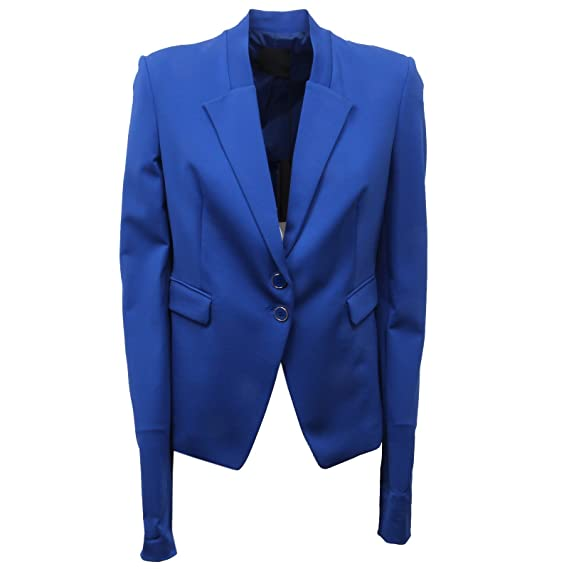 D5096 giacca donna PINKO SCUBIDU blue jacket woman  46   Amazon.it   Abbigliamento c3c021348c8