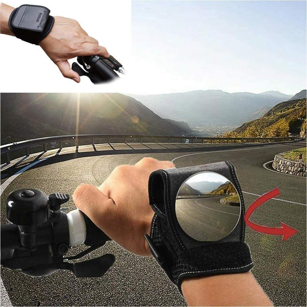 Bike Mirror Handlebar Mount Adjustable Bicycle Rear View Mirror Rotatable Safe Wide Angle Bicycle Handlebar Rear View Glass Mirror for Mountain Road Bike Bicycle Electric Motorcycle 2 pcs Black