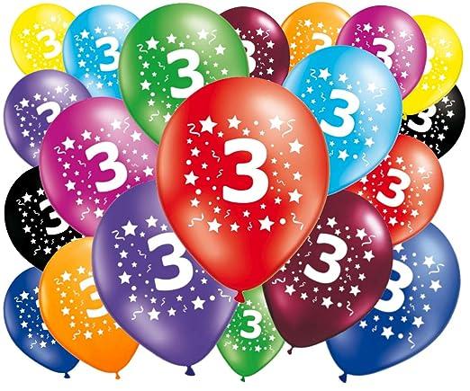 FABSUD – Lote de 20 Globos cumpleaños 3 años