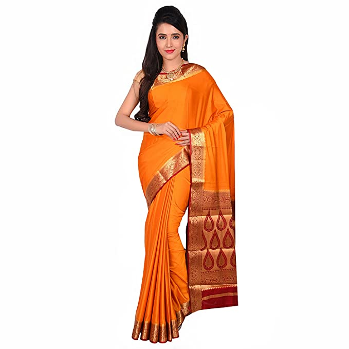 fa47001baca BAILEY SELLS Women s Attractive Traditional Crepe Mysore Silk Saree with  Blouse Piece (BL217