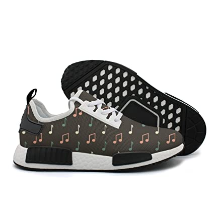 94ed40d424 YHFJYT Breathable Mesh Plate Shoes Music Notes Pattern Fashion Sports Shoes